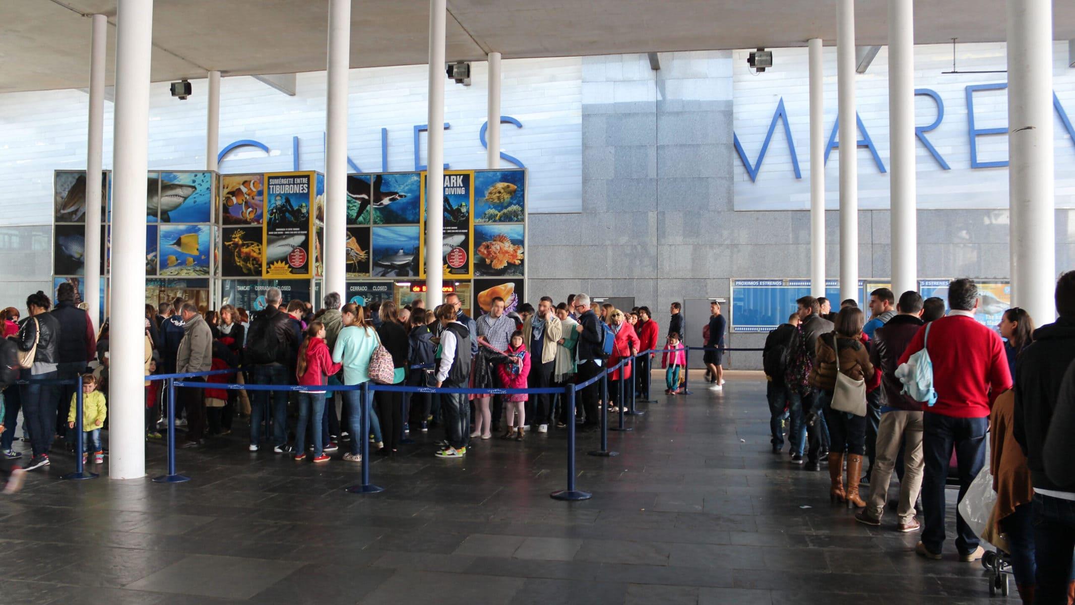 Aquarium Barcelona Warteschlange