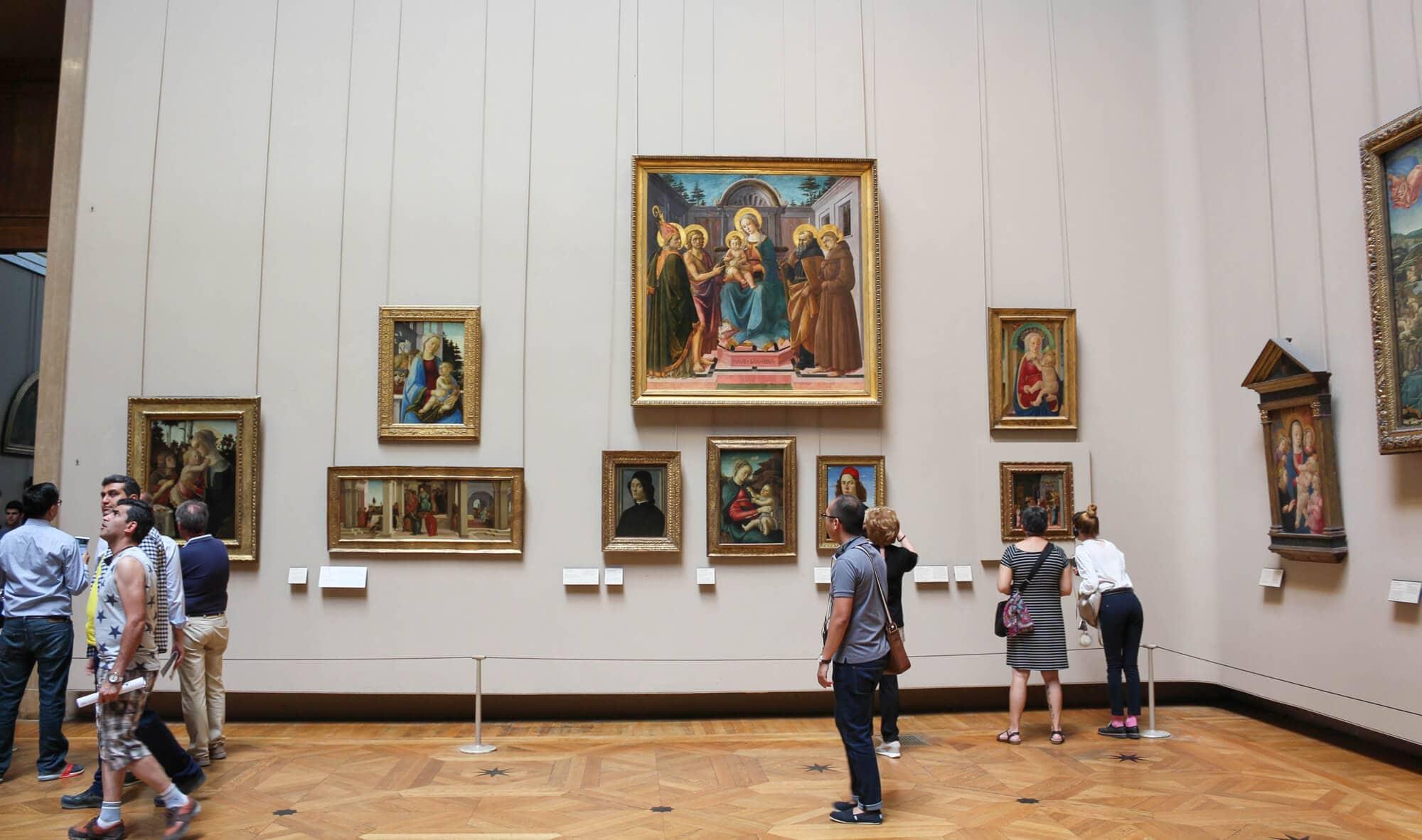 Alte Meister, Botticelli-Raum, Louvre, Paris