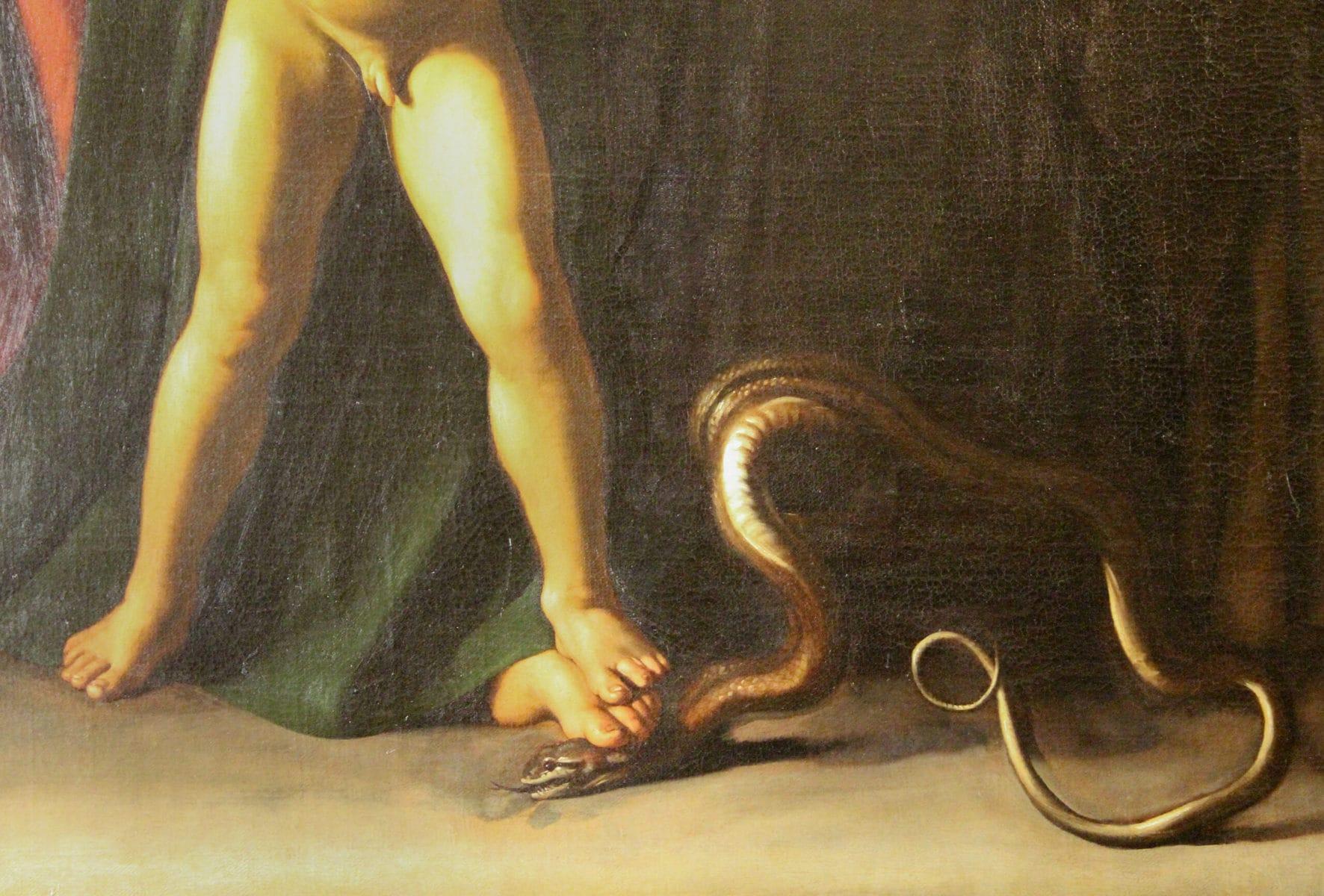 Caravaggio: Palafrenieri-Madonna, Galleria Borghese, Rom