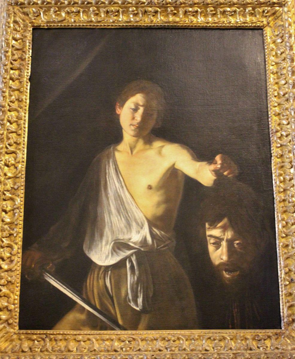 Caravaggio: David und Goliath, Galleria Borghese, Rom