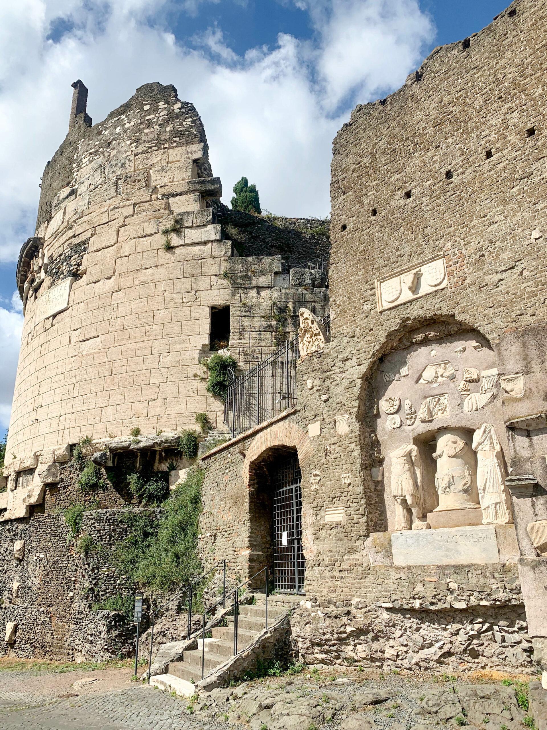 Grab der Cecilia Metella, Via Appia Antica, Rom