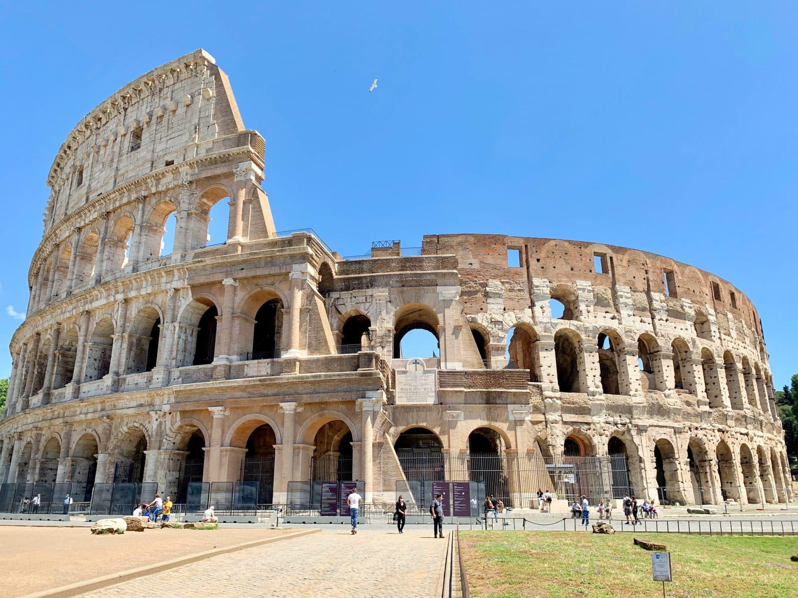Kolosseum Rom Eingang während Covid