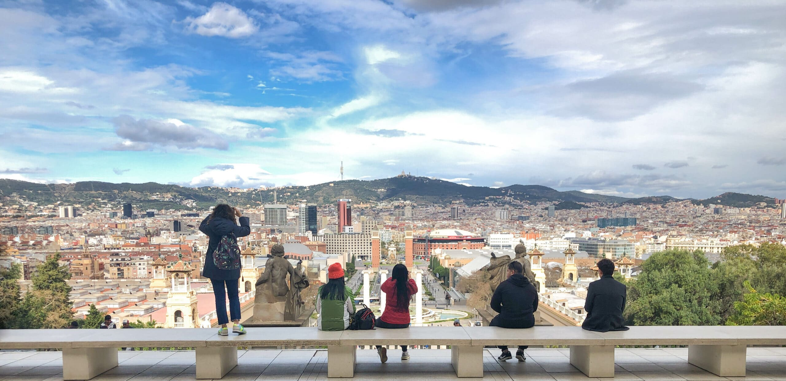 Museu National d'Art de Catalunya, Barcelona - Aussicht