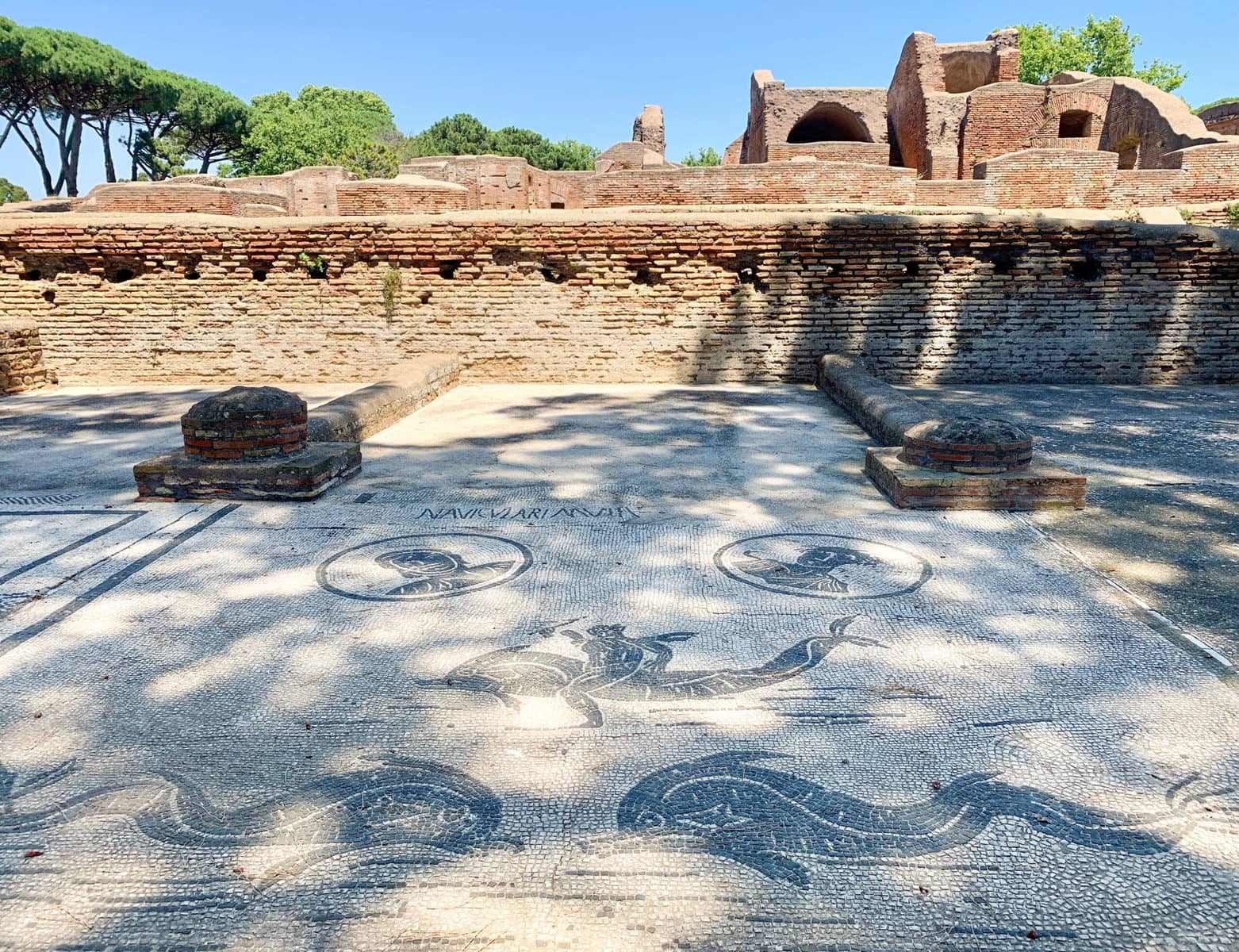 Platz der Korporationen, Ostia Antica, Rom