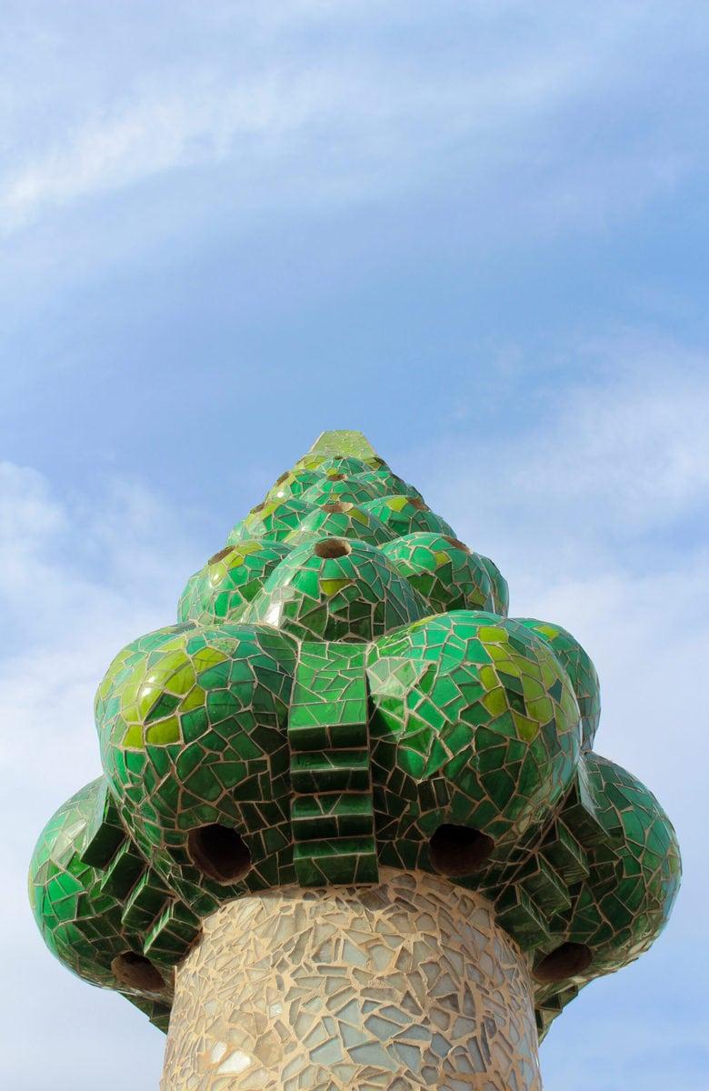 Dachterrasse des Palau Güell, Barcelona