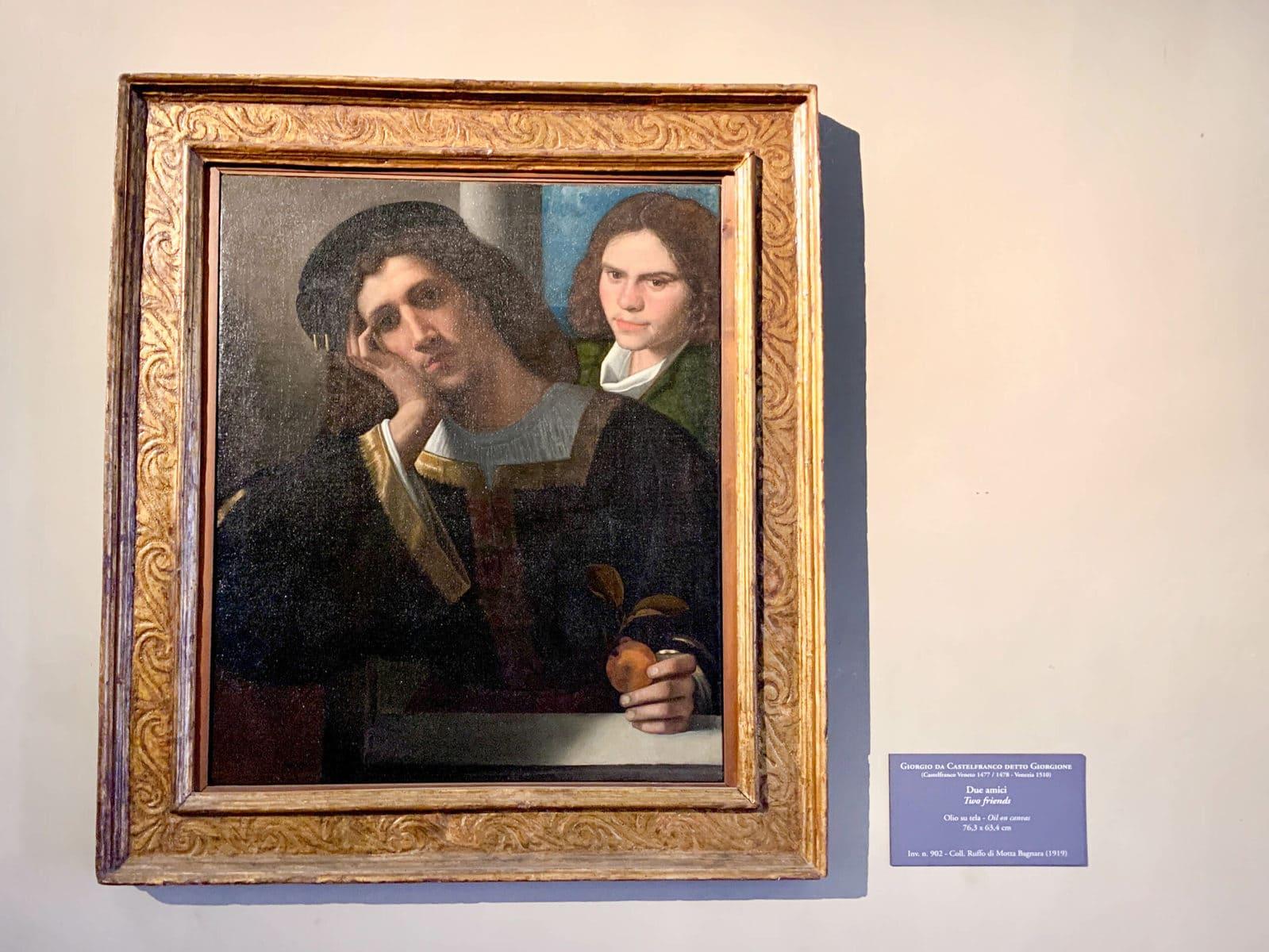 Due amici, Giorgione, Palazzo Venezia, Rom
