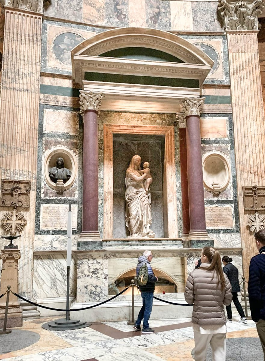 Raffaels Grab, Pantheon Rom