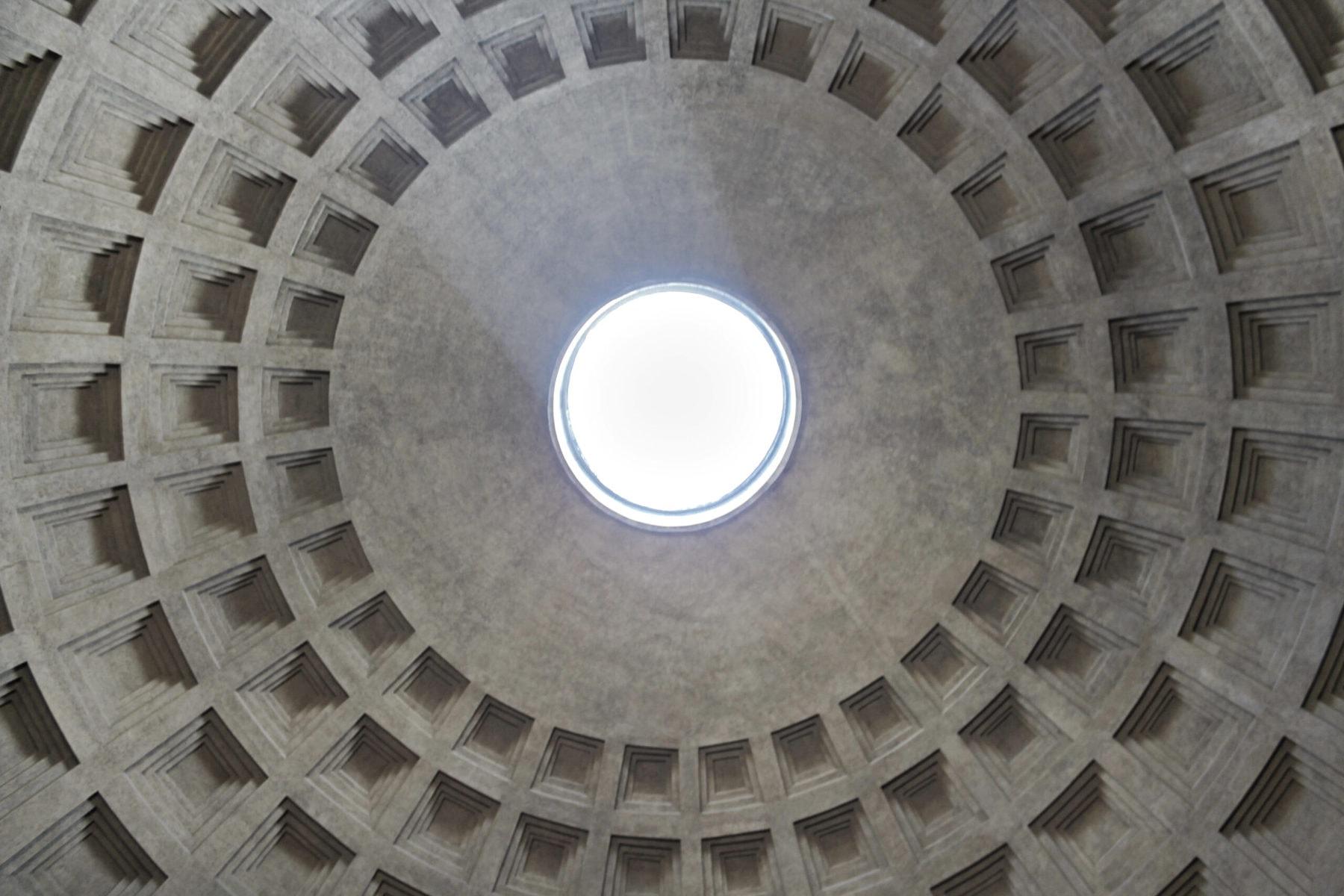 Offene Kuppel, Pantheon Rom