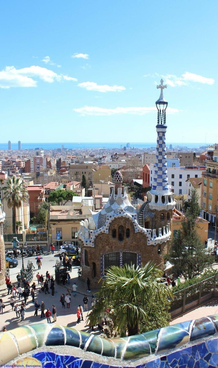 Die Terrasse des Park Güell, Barcelona