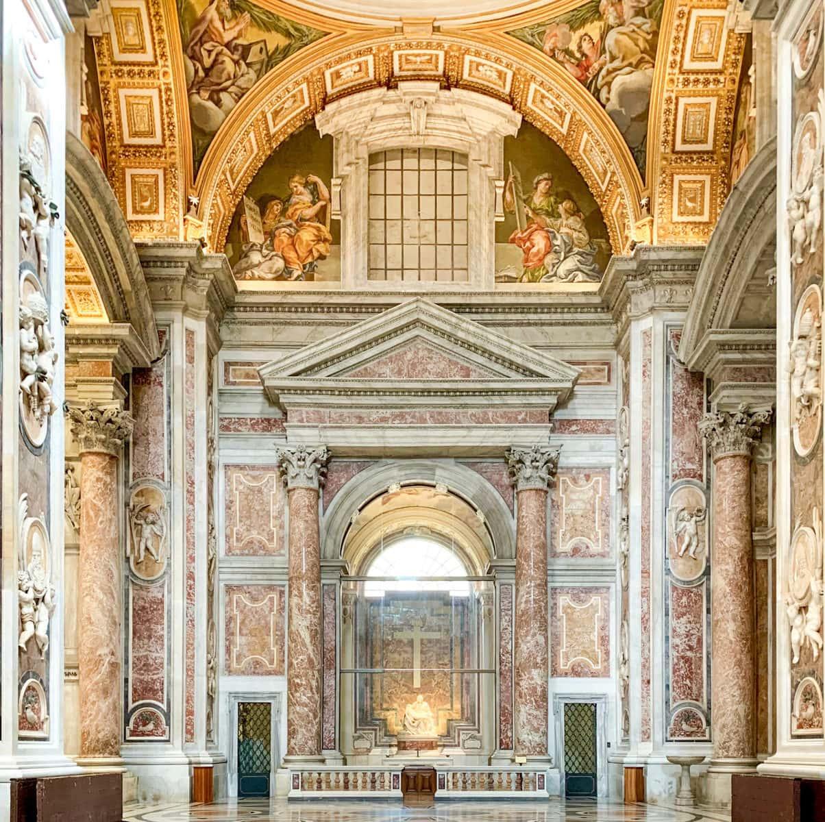 Petersdom, Rom, während Corona