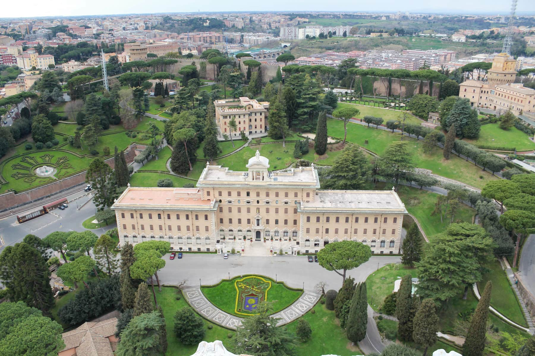 Ausblick vom Petersdom, Rom
