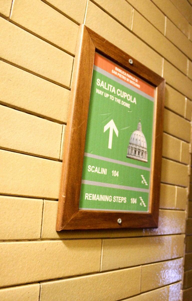 Petersdom Rom, Aufgang zur Kuppel