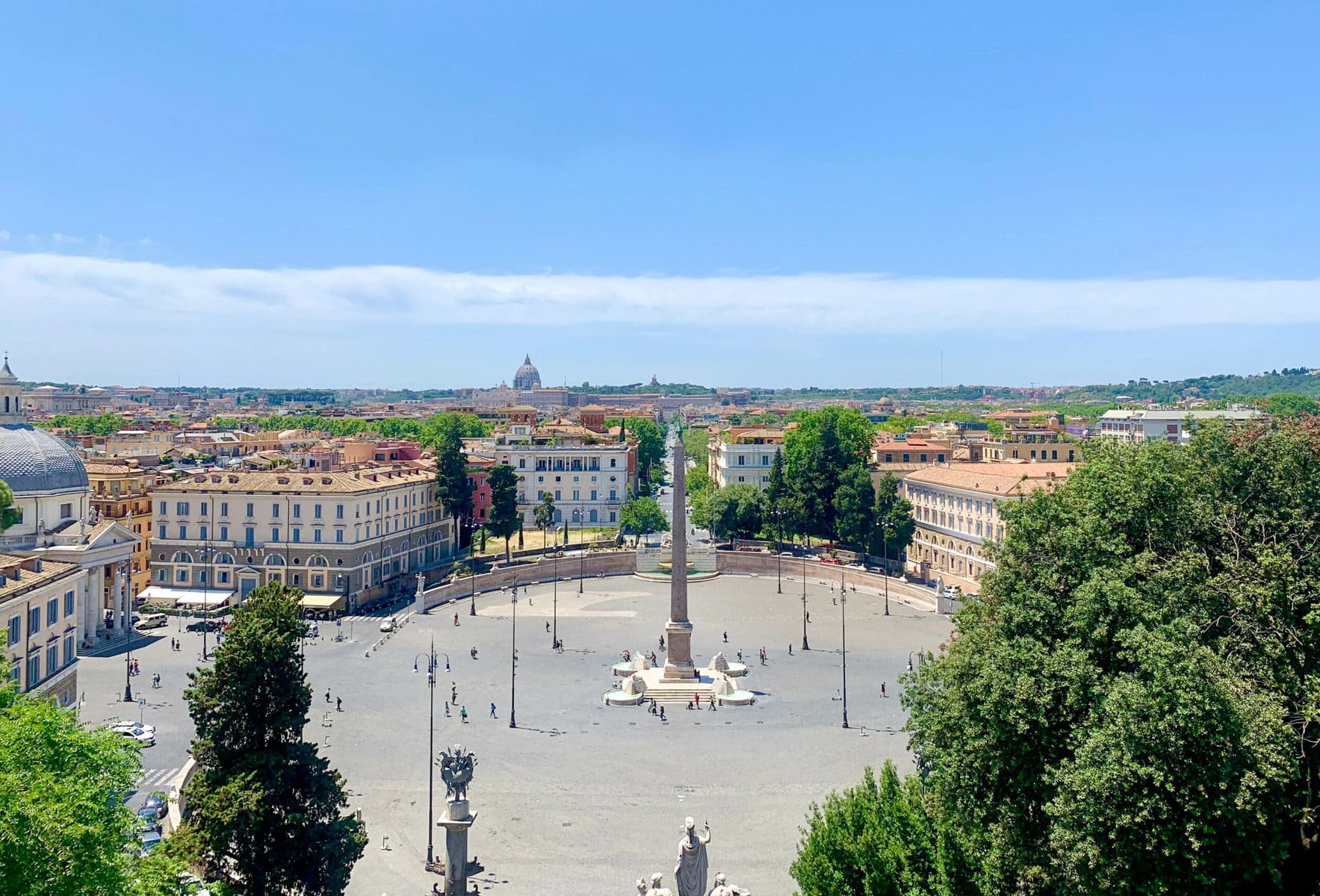 Obelisk Flaminio, Piazza del Popolo, Rom
