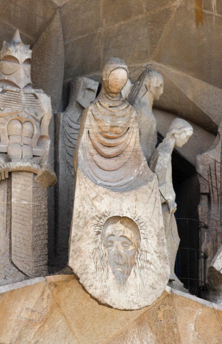 Sagrada Familia: Kreuzweg, Veronica und dem Schweißtuch