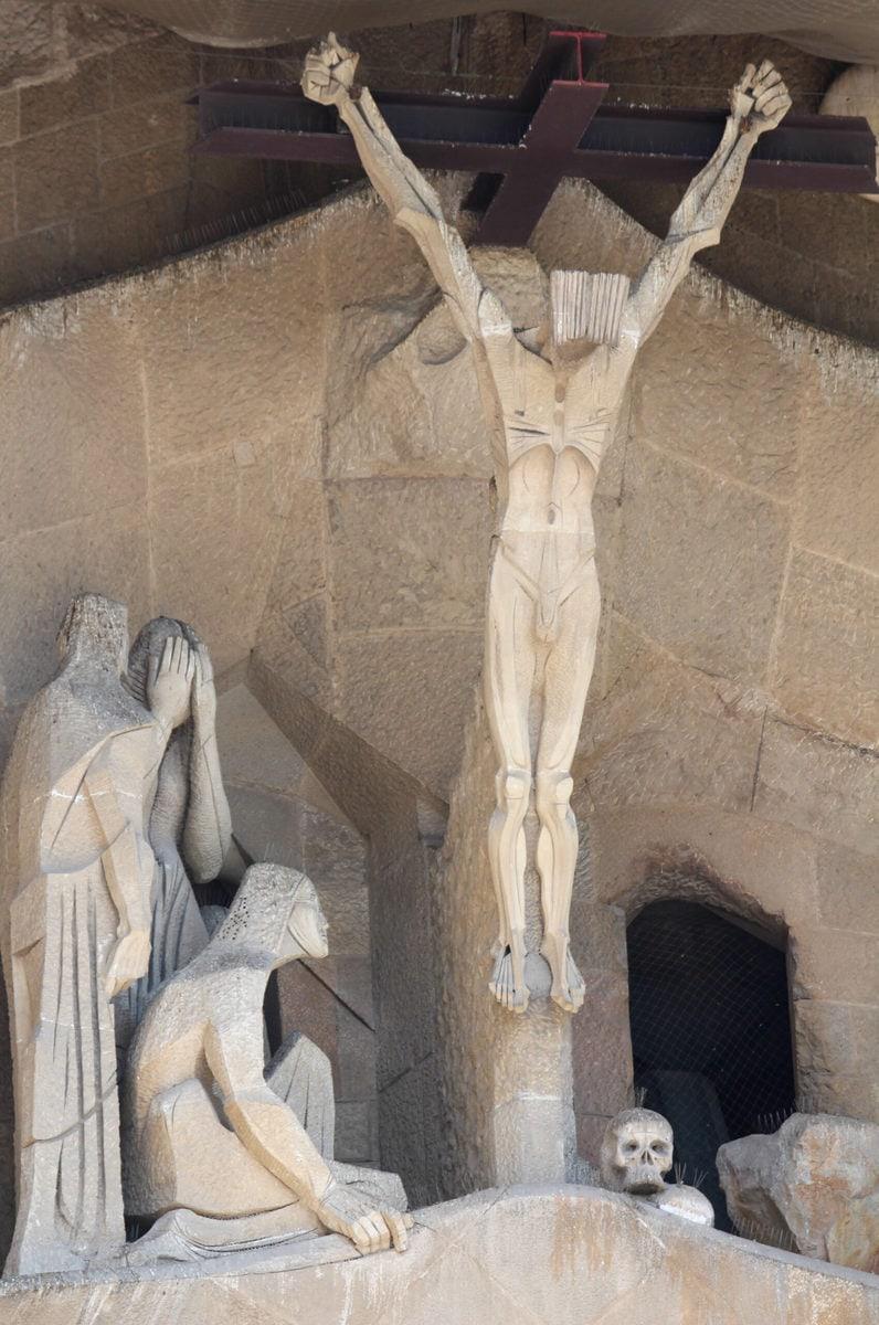 Sagrada Familia, Passionsfassade (Detail)