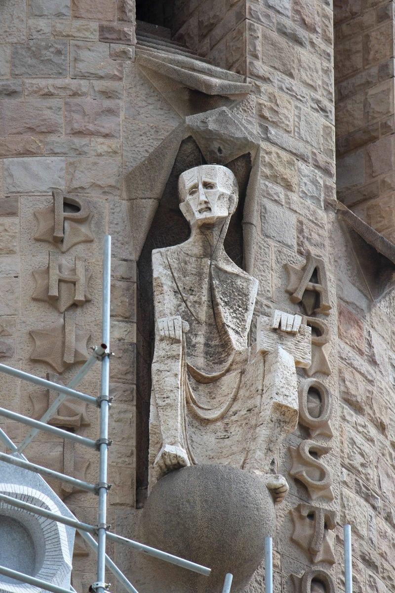 Sagrada Familia: Die Apostel der Passionsfassade: Philippus