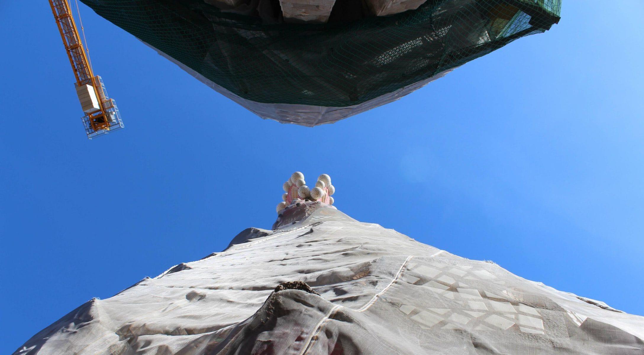 Sagrada Familia: Mit dem Aufzug hoch in die Türme der Passionsfassade