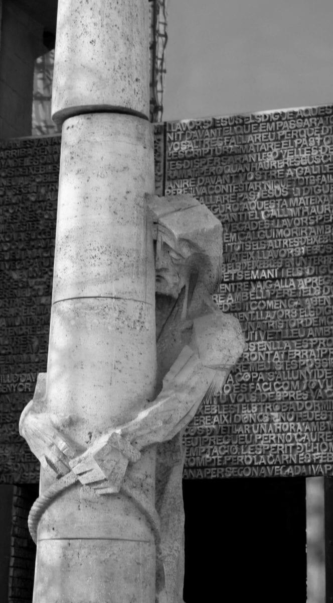 Sagrada Familia: Eingang zur Sagrada Familia, Christus der Passionsfassade