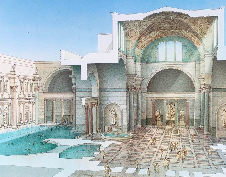 Caracalla Thermen nach dem Bau, Rom