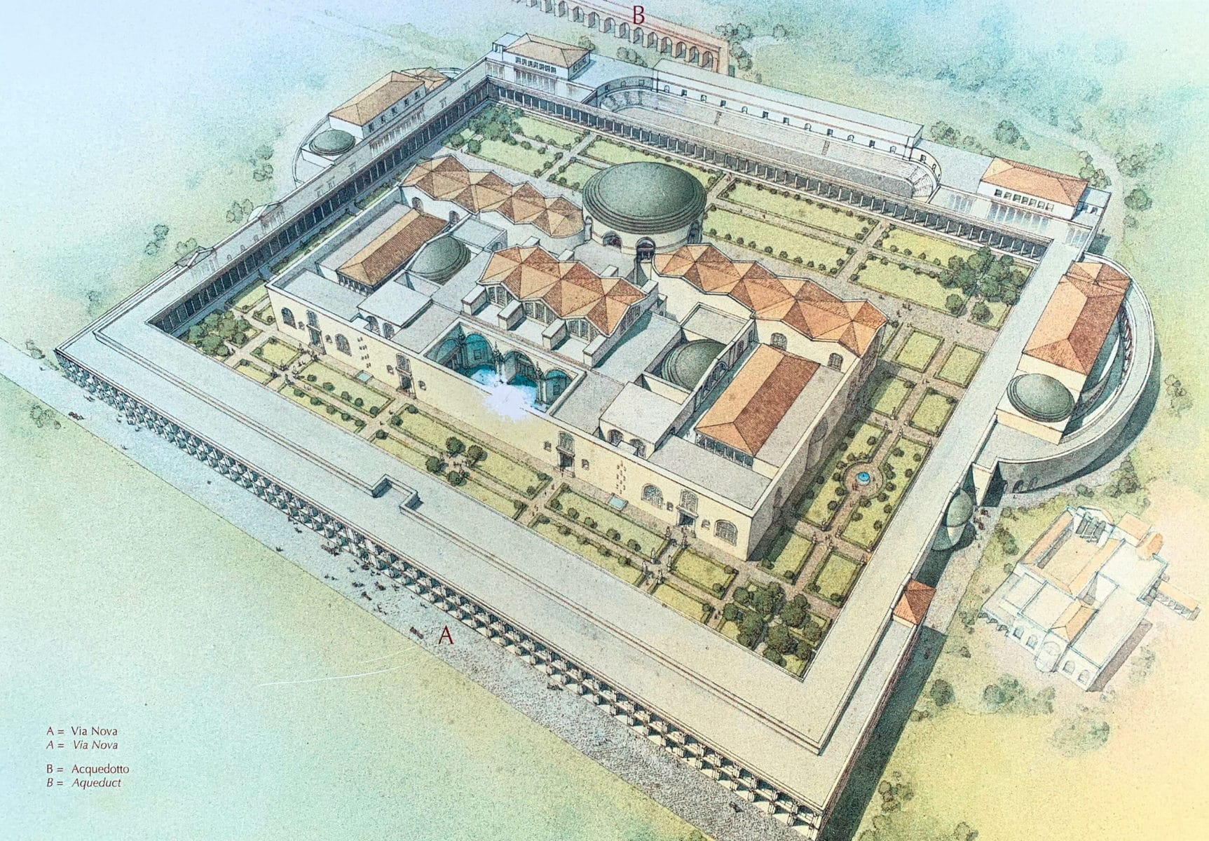 Caracalla Thermen Rom nach dem Bau 2