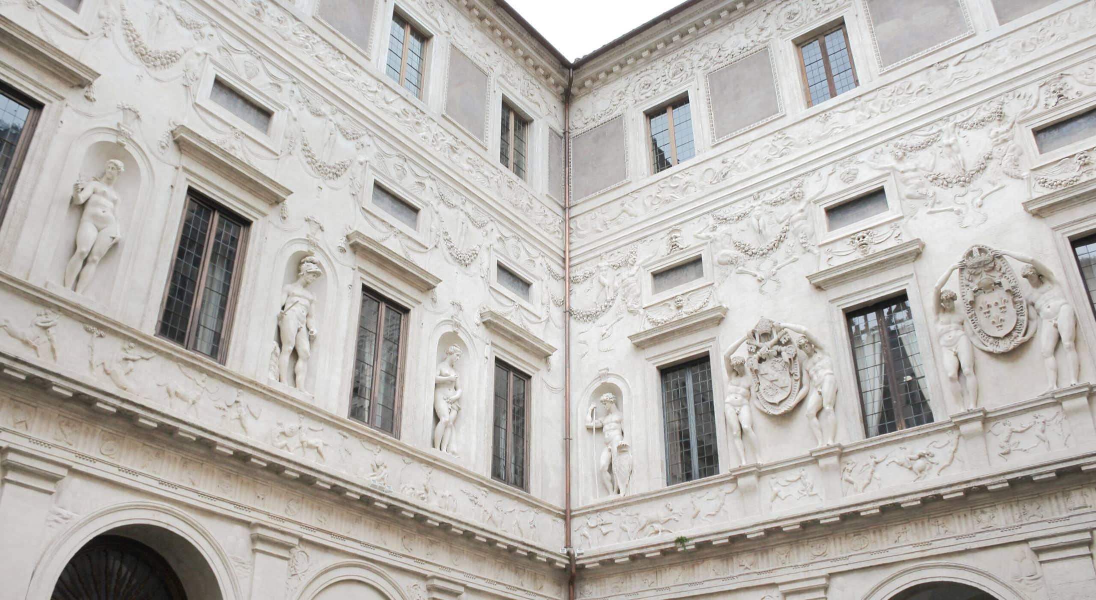 Palazzo Spada Fassade Innenhof, Rom