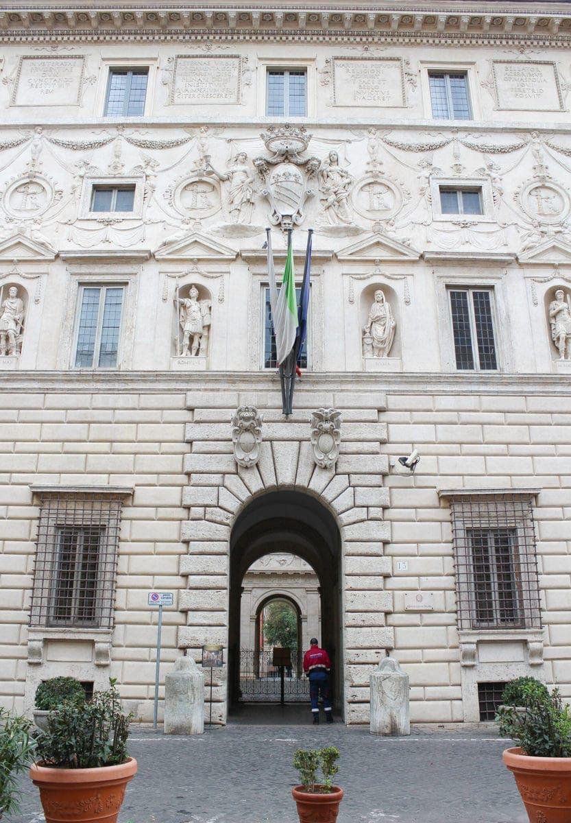 Palazzo Spada Fassade Außen, Rom
