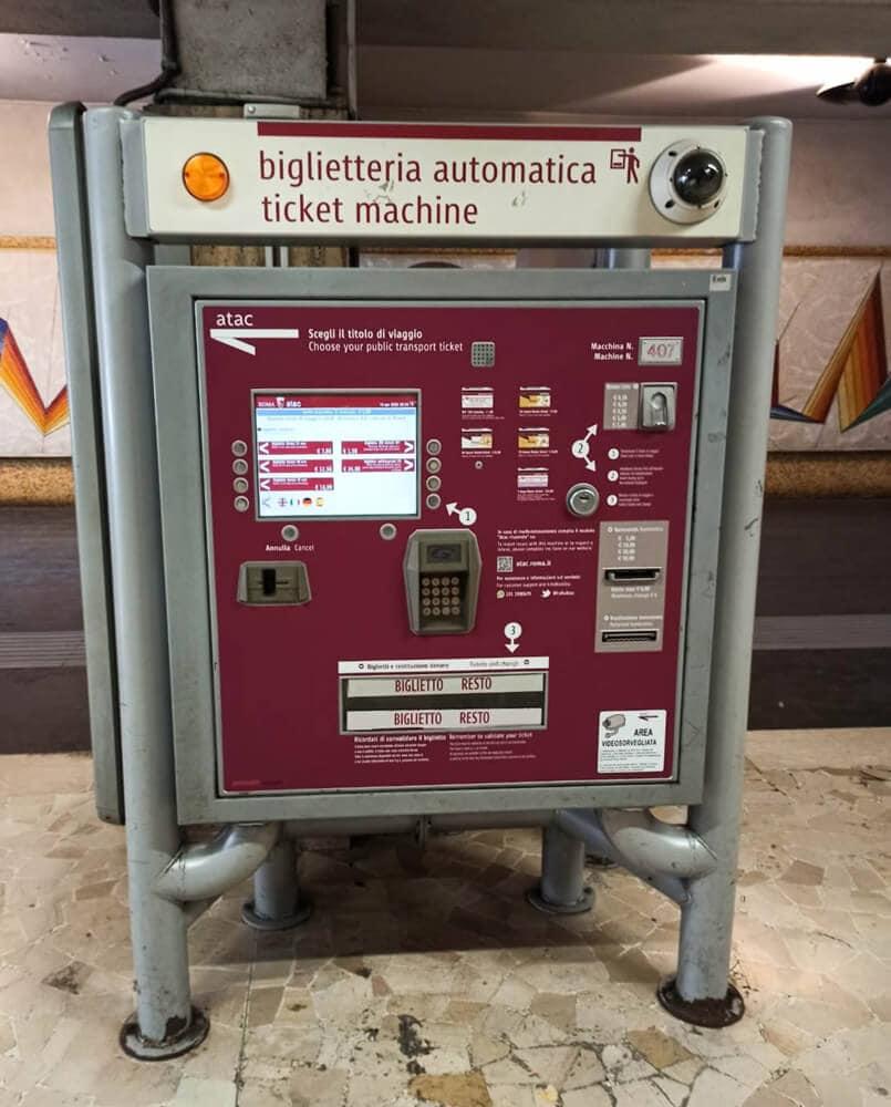 Fahrkartenautomat, Rom