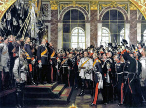 Die Proklamierung des deutschen Kaiserreiches (18. Januar 1871), Ölgemälde von Anton von Werner (1883)