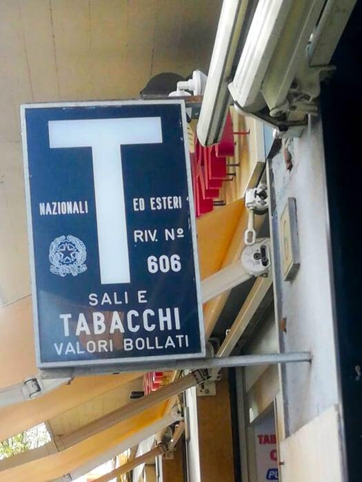 """Trafik, """"Tabacchi"""", Rom"""