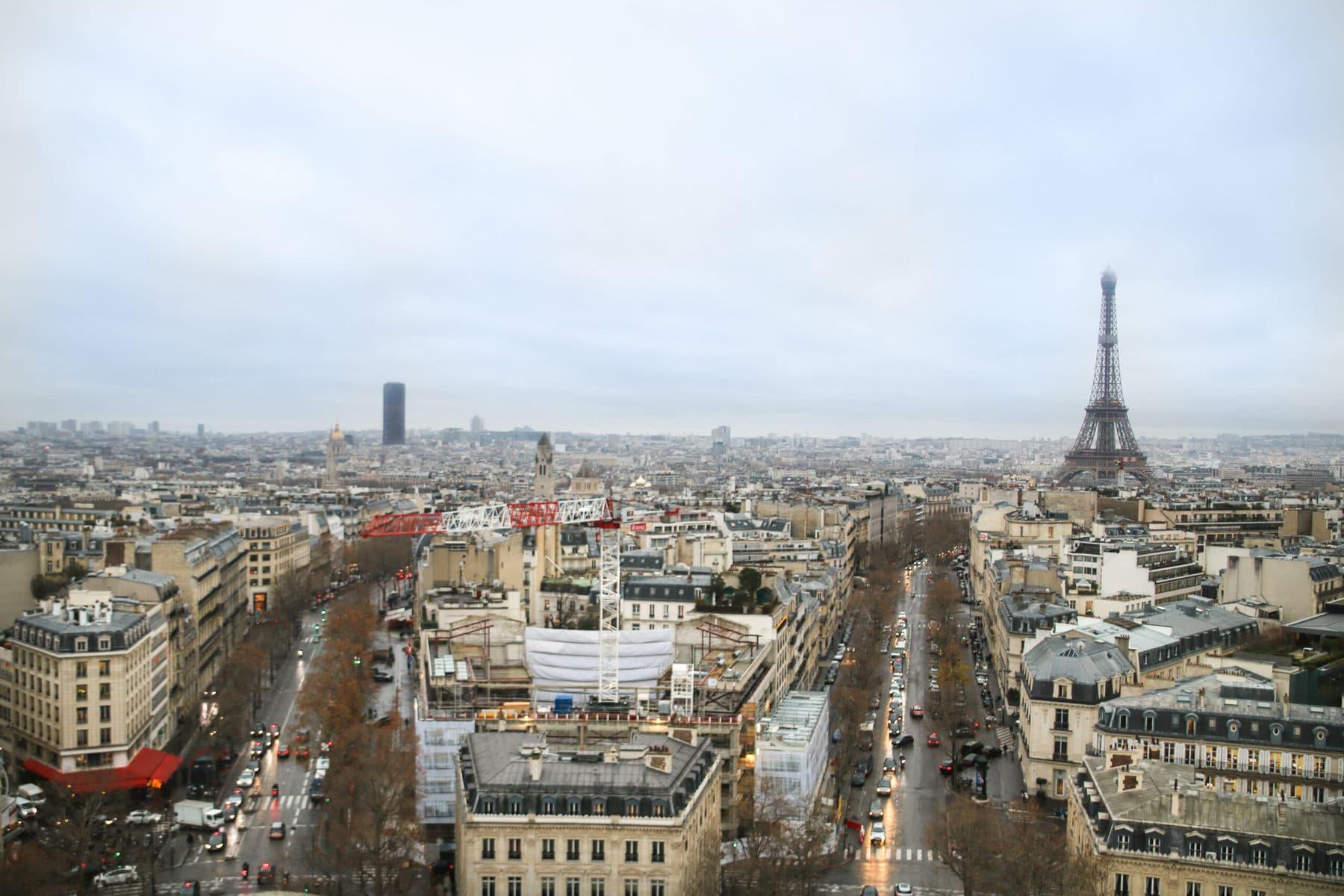 Blick vom Arc de Triomphe, Paris