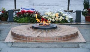 Ewige Flamme, Grab des Unbekannten Soldaten, Arc de Triomphe, Paris