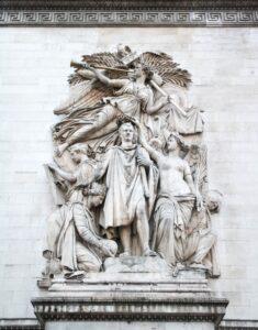 Jean-Pierre Cortot: Triumph Napoleons nach dem Frieden von 1810, Arc de Triomphe, Paris