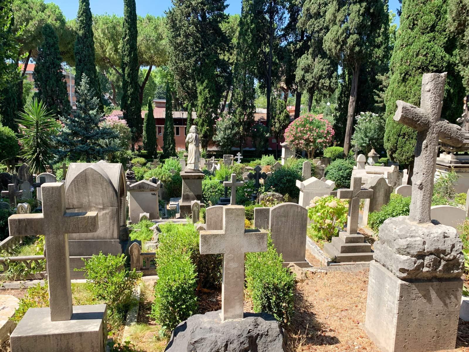 Friedhof Cimitero Acattolico, Rom