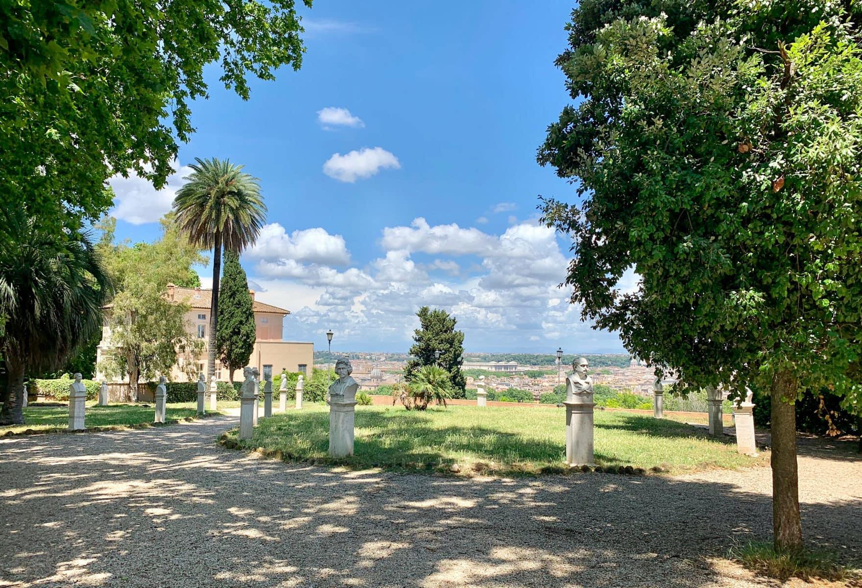 Gianicolo Hügel und seine Parkanlage, Rom
