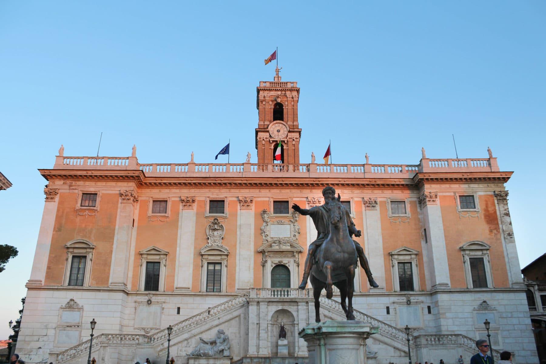 Kapitolsplatz, Kapitolinische Museen, Rom
