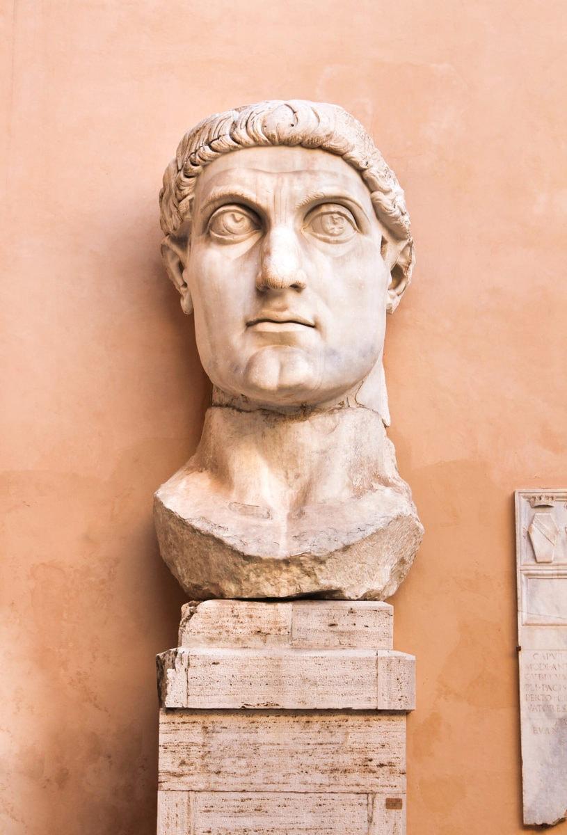 Konstantin der Große, Kopf, Kapitolinische Museen, Rom