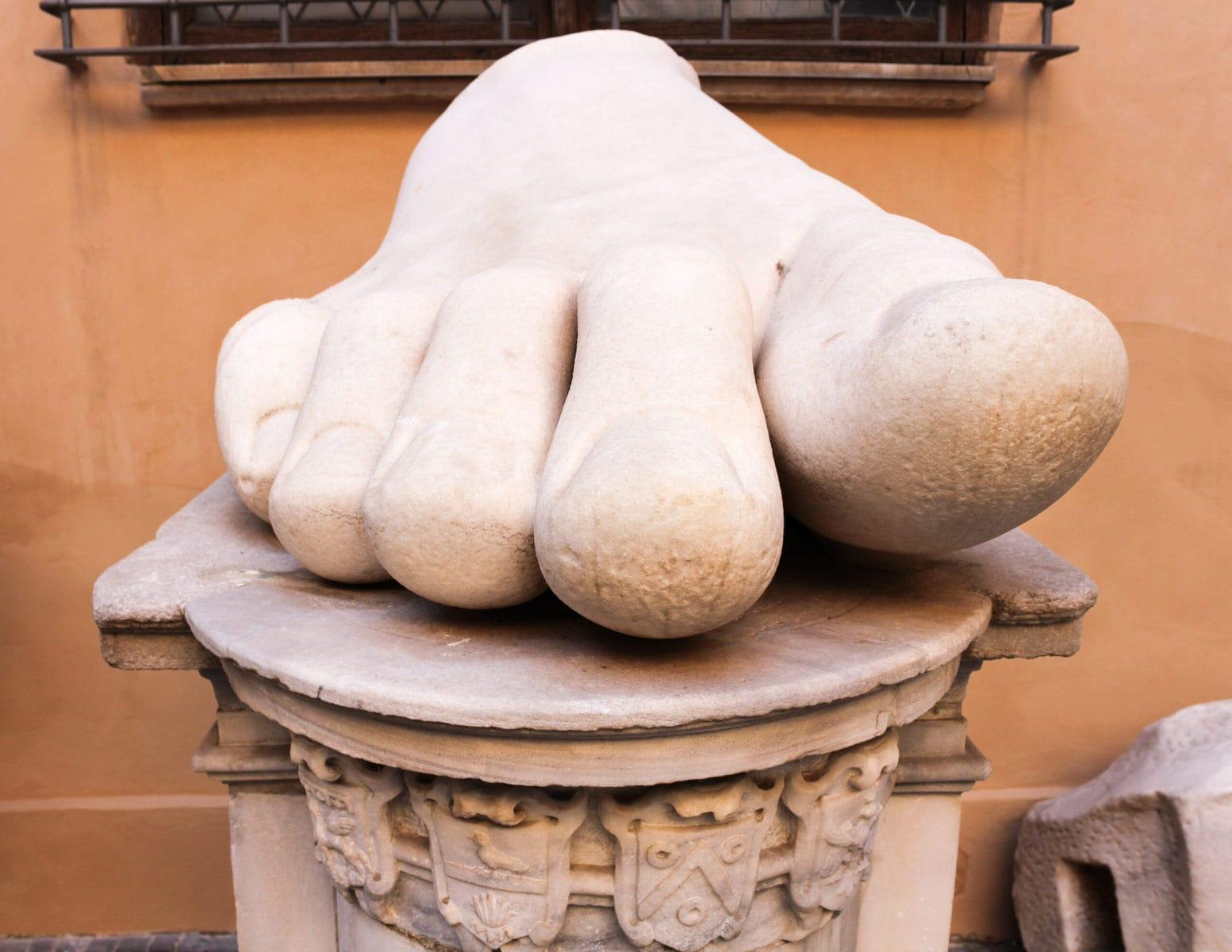 Konstantin der Große, Fuß, Kapitolinische Museen, Rom