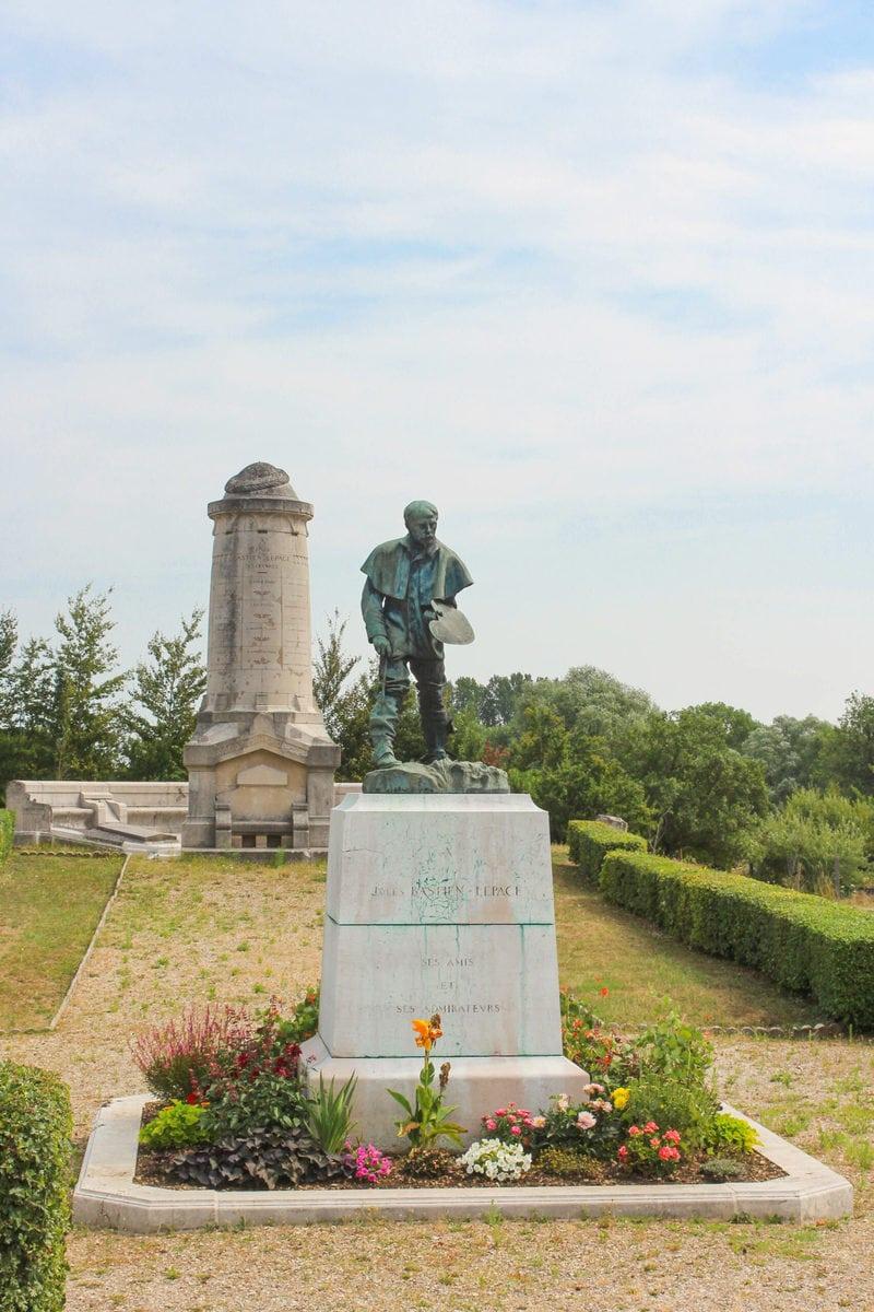Jules Bastien-Lepage, Skulptur von Rodin, Damvillers