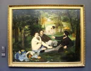 Edouard Manet: Das Frühstück im Grünen, 1863, Öl auf Leinwand, 207 x 265 cm, Musée d'Orsay, Paris