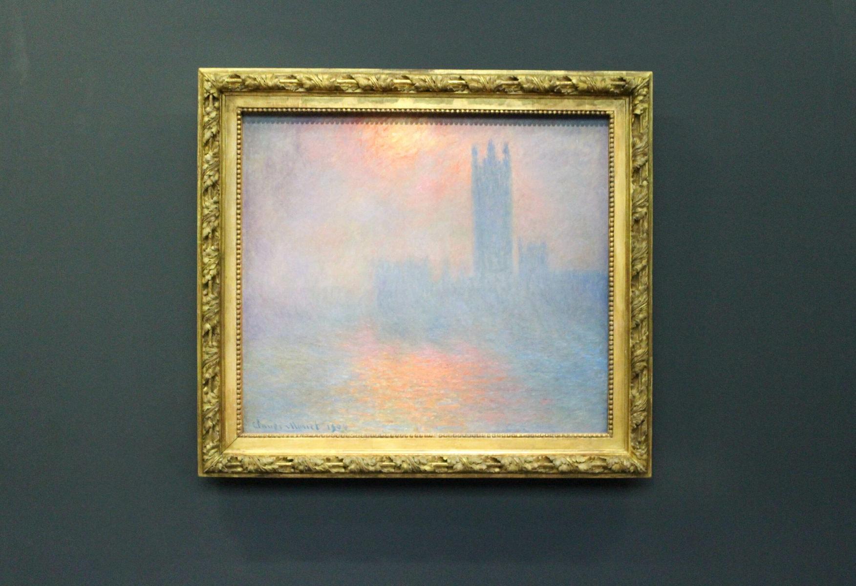 Claude Monet, London, Parlament, die Sonne durchbricht den Nebel, 1904, Öl auf Leinwand, 81,50 x 92,50 cm, Musée d'Orsay, Paris
