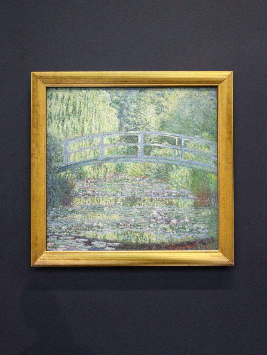 Claude Monet: Seerosenteich mit Brücke, 1899, Musée d'Orsay, Paris