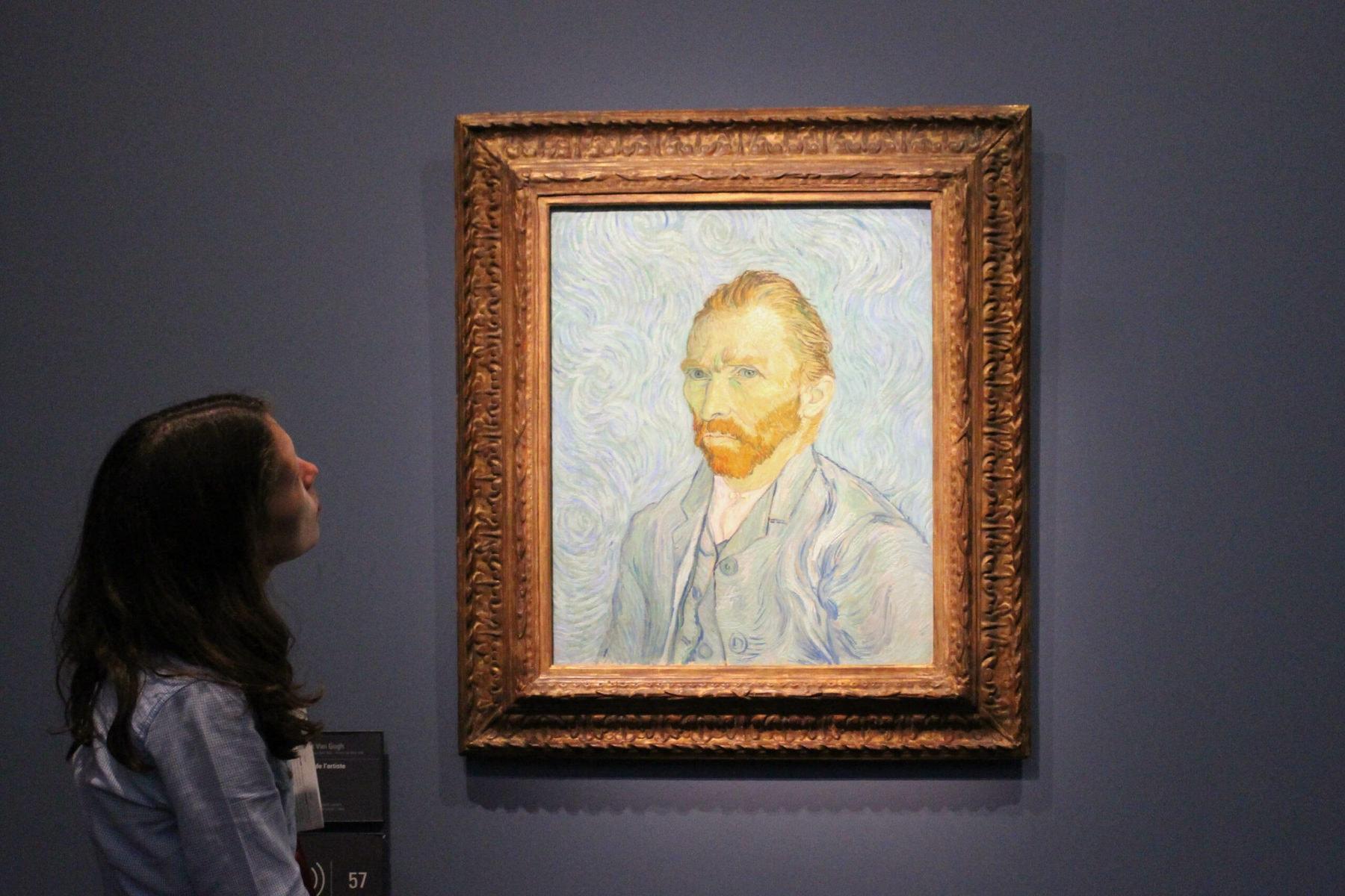 Vincent Van Gogh, Porträt des Künstlers, 1889, Öl auf Leinwand, 65 x 54,2 cm, Musée d'Orsay, Paris
