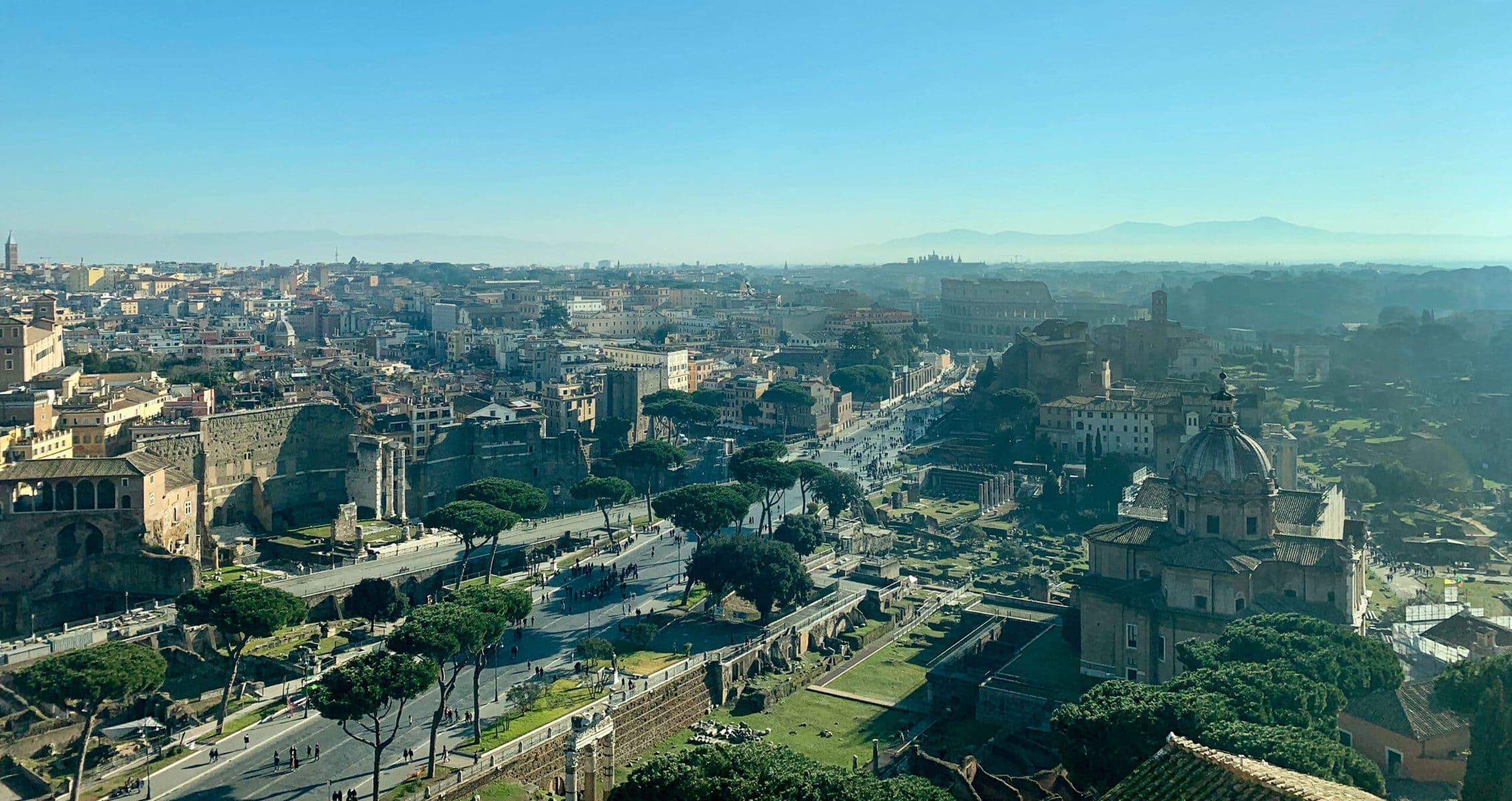 Terrasse des Nationaldenkmals Vittorio Emanuele II., Rom