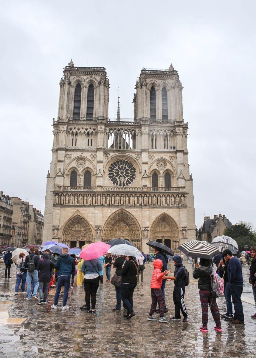 Besuch von Notre Dame de Paris 2016 - genau bei dem Jahrhundert-Hochwasser! Und dann diese Warteschlange - nein danke!