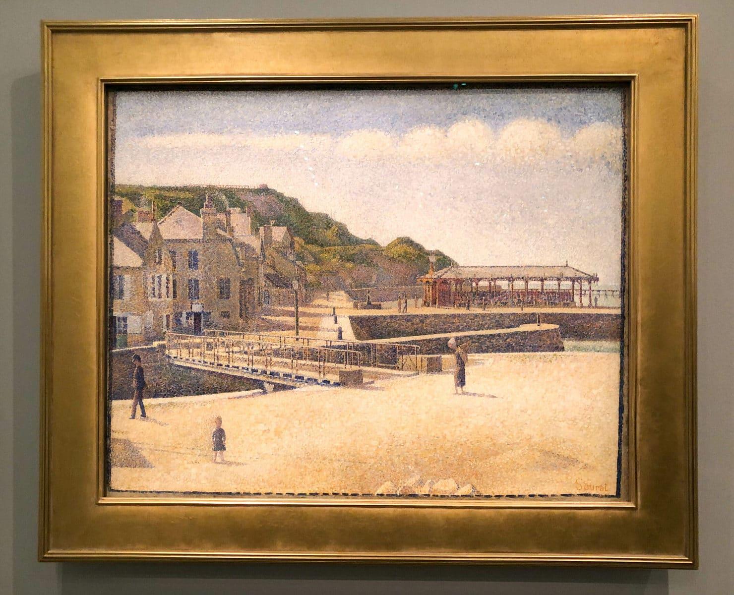 George Seurat: Le pont et les quais à Port-en-Bessin, Musée de l'Orangerie, Paris