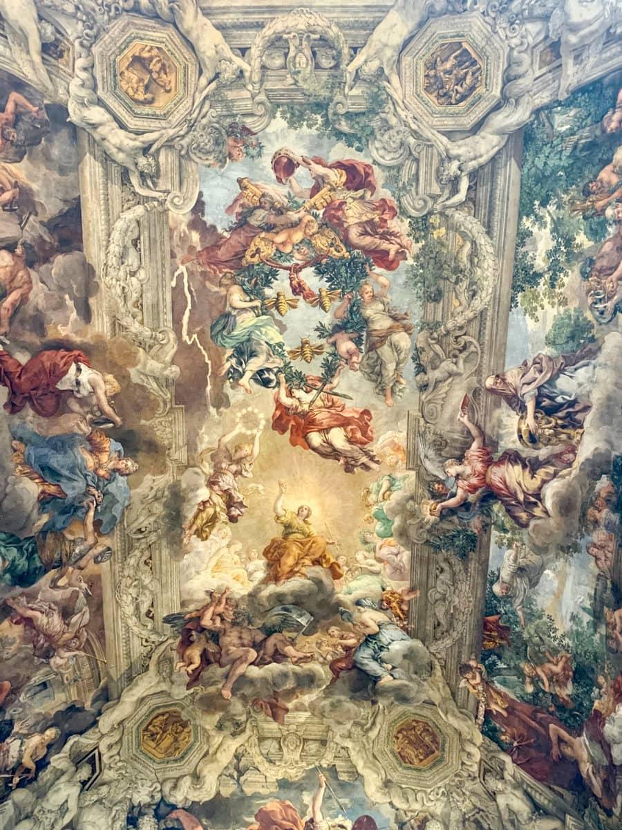 """Pietro da Cortona: """"Allegorie der göttlichen Vorsehung"""" (17. Jh.), Palazzo Barberini, Rom"""