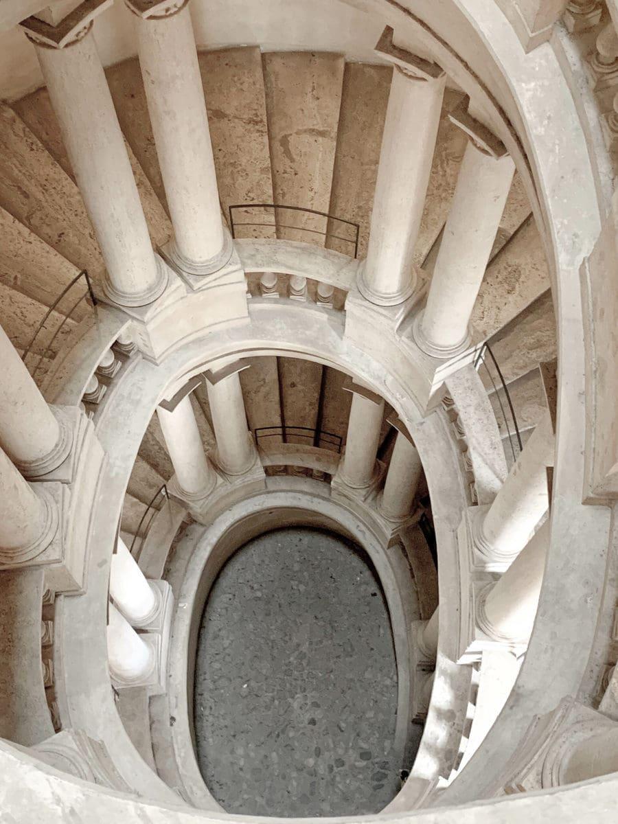 Francesco Borromini, Treppenhaus im Palazzo Barberini, Rom