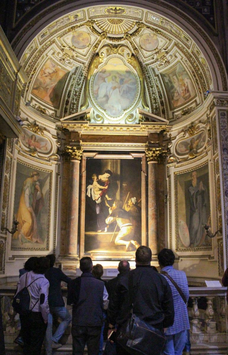 Maria di Loreto, Madonna dei Pellegrini (Madonna der Pilger), Sant' Agostino, Rom