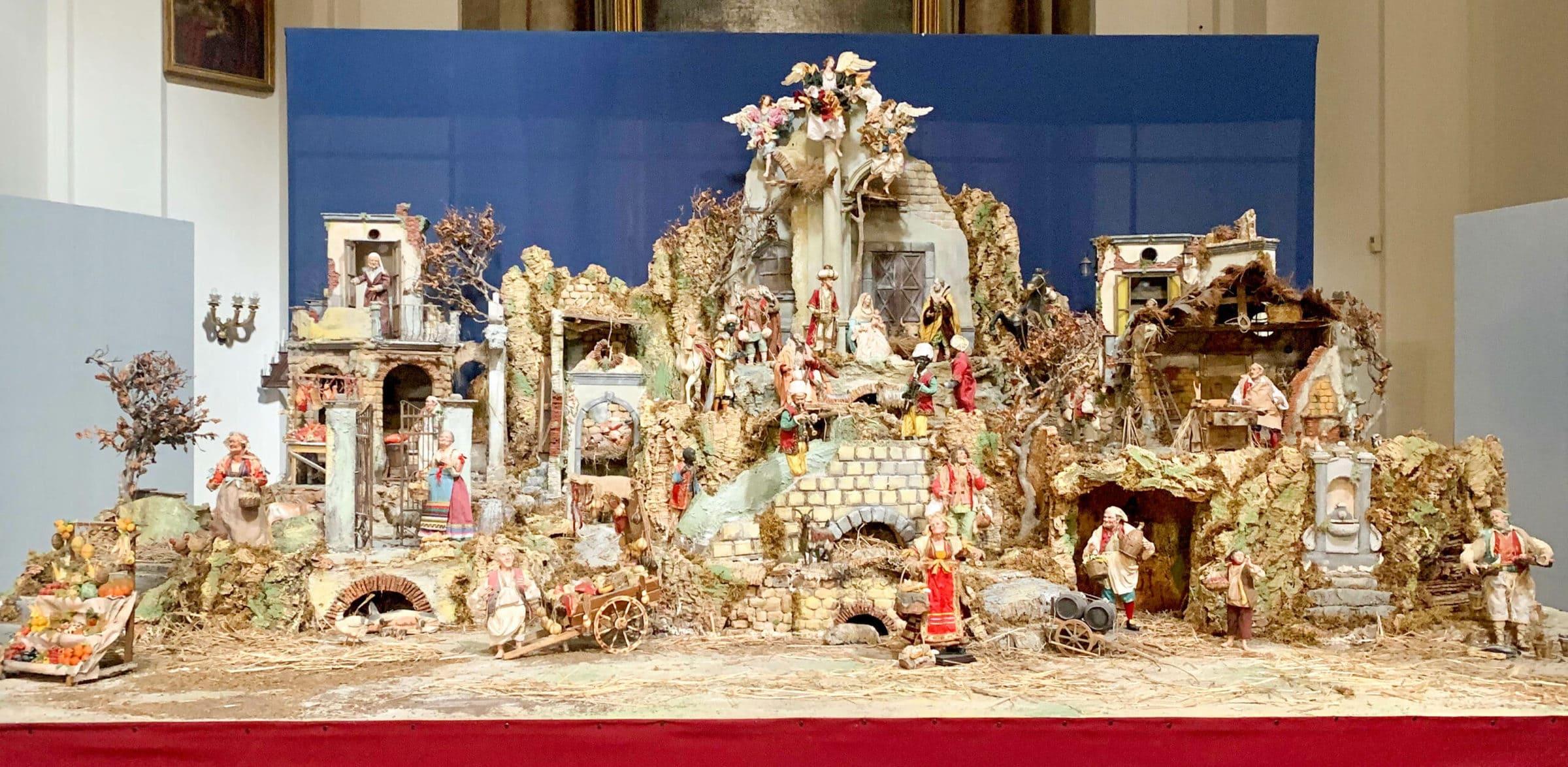 Marco Ferrigo: Neapolitanische Krippe, Sant'Ignazio di Loyola, Rom