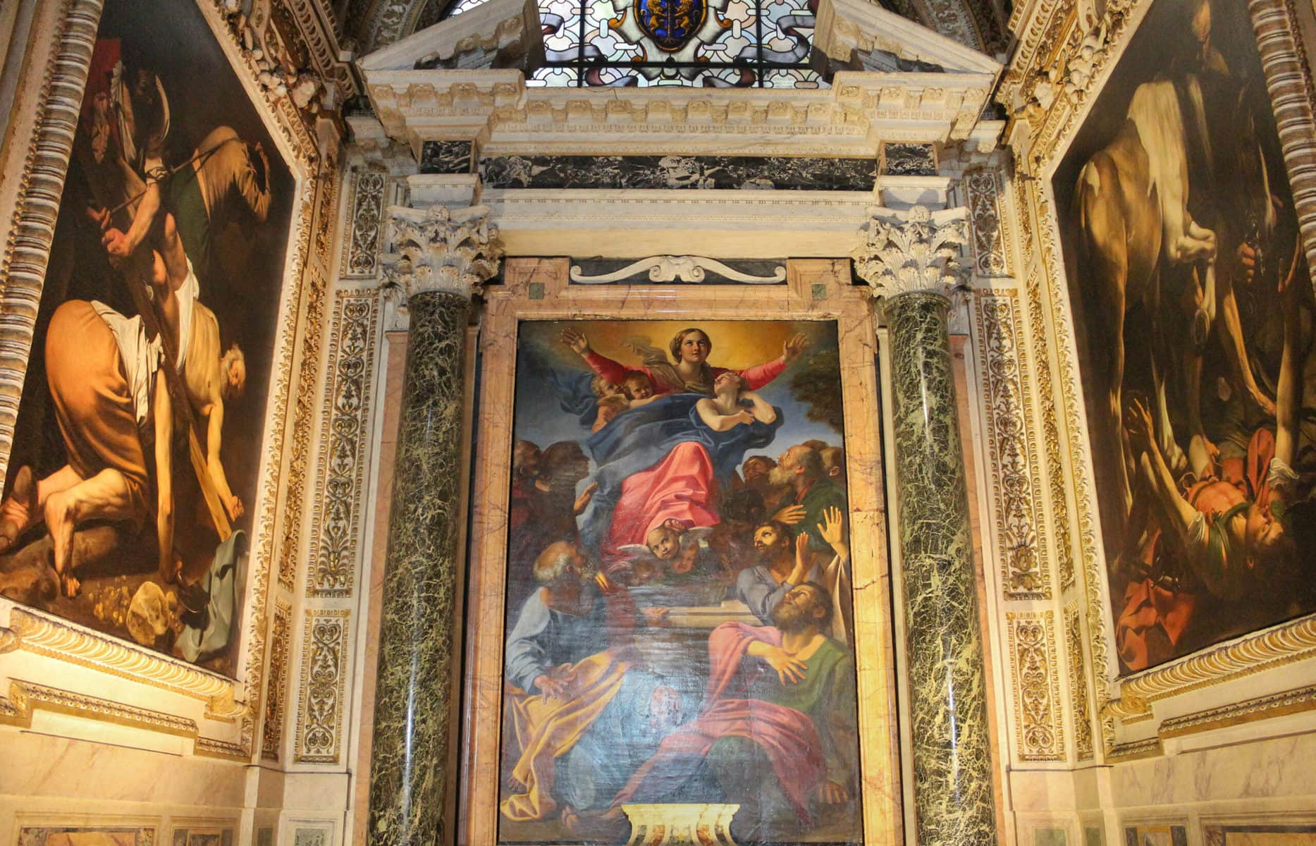 Annibale Carracci: Aufnahme Mariens in den Himmel, Santa Maria del Popolo, Rom